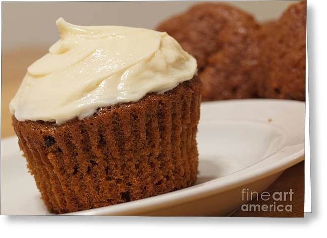 Valerie Morrison Greeting Cards - Carrot Cake Muffin Greeting Card by Valerie Morrison
