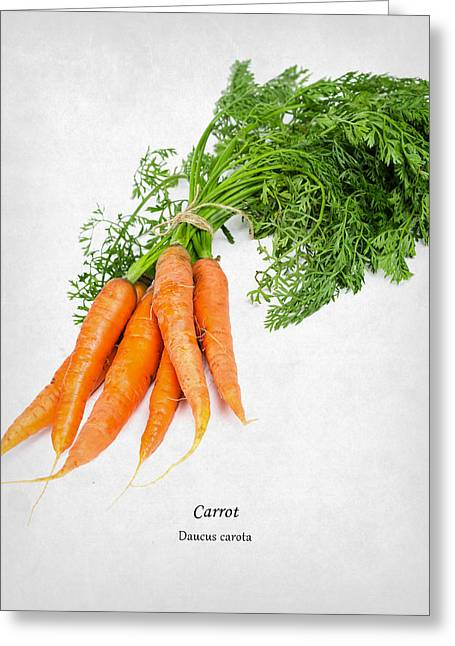 Carrot Greeting Card by Mark Rogan
