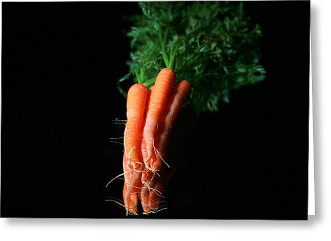 Carrots Greeting Card by Michael Ledray