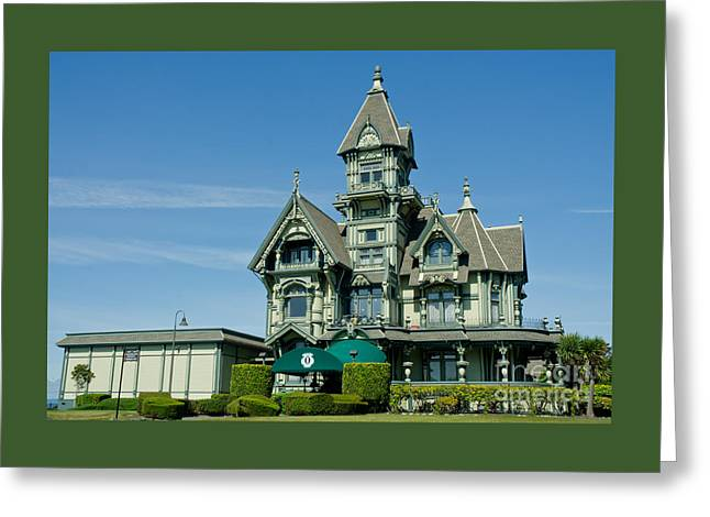 California Ocean Photography Greeting Cards - Carson Mansion Greeting Card by Nick  Boren