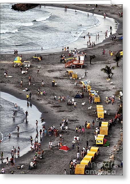Cartagena Greeting Cards - Cartagena Beach Fun Greeting Card by John Rizzuto