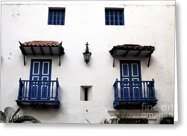 Cartagena Greeting Cards - Cartagena Blues Greeting Card by John Rizzuto