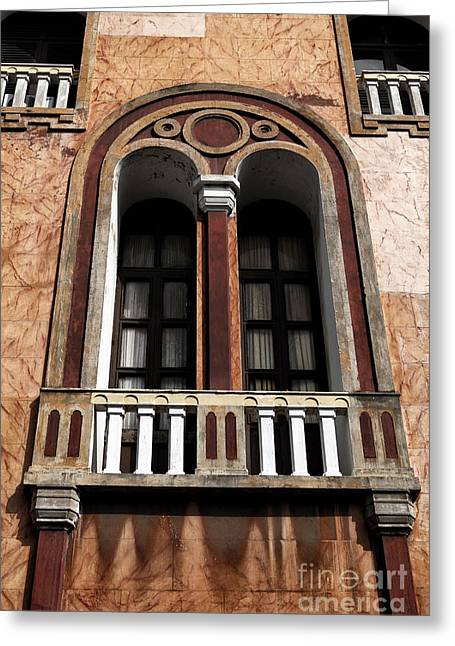Cartagena Greeting Cards - Cartagena Old Town Window Greeting Card by John Rizzuto