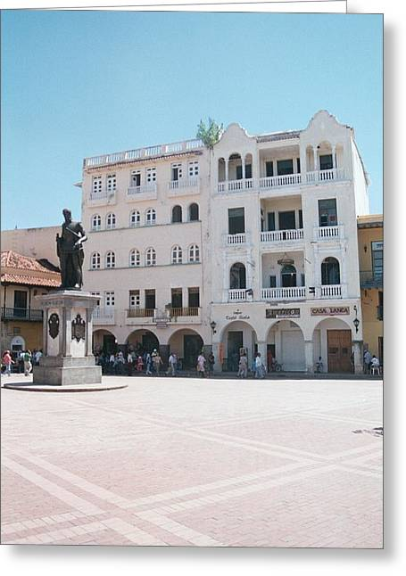 Cartagena Square Greeting Card by David Cardona