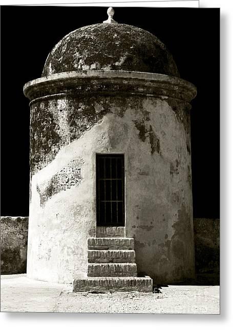 Cartagena Greeting Cards - Cartagena Watchtower Greeting Card by John Rizzuto