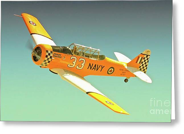 Reno Air Races Greeting Cards - Carter Clark and T-6 Texan Race 33 Midnight Rendevous Greeting Card by Gus McCrea