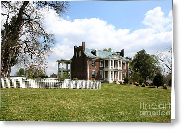 Carnton Plantation Greeting Cards - Carter House And Carnton Plantation Greeting Card by John Black