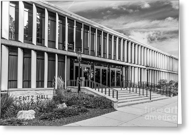 Occasion Greeting Cards - Carthage College Lentz Hall Greeting Card by University Icons