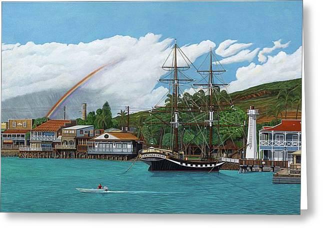 Lahaina Greeting Cards - Carthaginian, Lahaina Harbor Greeting Card by Robert Bradshaw