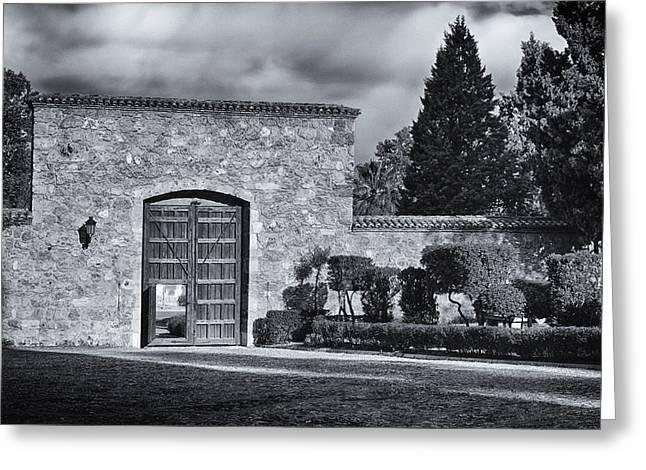 Entrance Door Greeting Cards - Carthusian Monastery Granada II Greeting Card by Joan Carroll