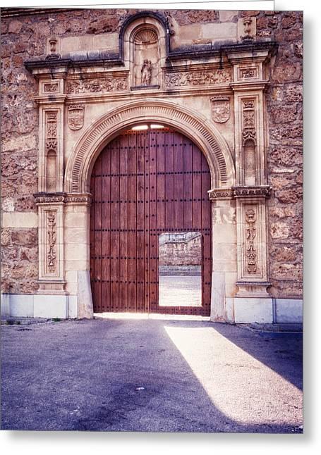 Wooden Building Greeting Cards - Carthusian Monastery Granada Greeting Card by Joan Carroll