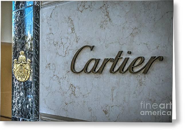 Cartier Beverly Hills Greeting Card by David Zanzinger