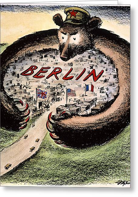 Post-war Greeting Cards - Cartoon: Cold War Berlin Greeting Card by Granger