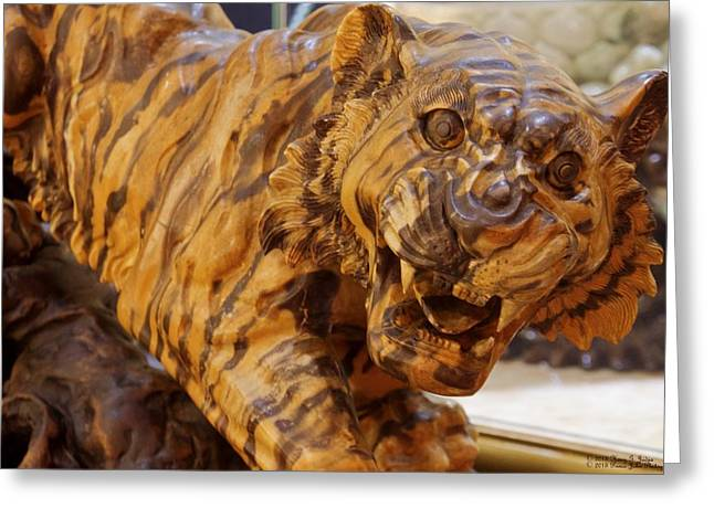 The Tiger Greeting Cards - Carvings In Jade - 5 - A Siberian Tiger Greeting Card by Hany Jadaa  Prince John Photography