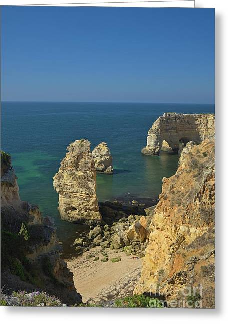 Carvoeiro Cliffs View Greeting Card by Angelo DeVal