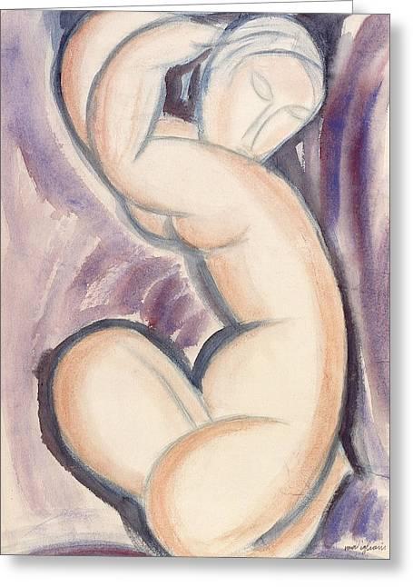 Caryatid Greeting Card by Amedeo Modigliani