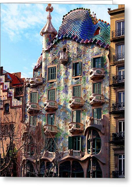 Tile Photographs Greeting Cards - Casa Batllo Greeting Card by Vincent Abbey