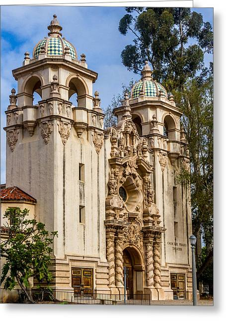 Balboa Park Greeting Cards - Casa Del Prado Theatre Greeting Card by Bill Gallagher