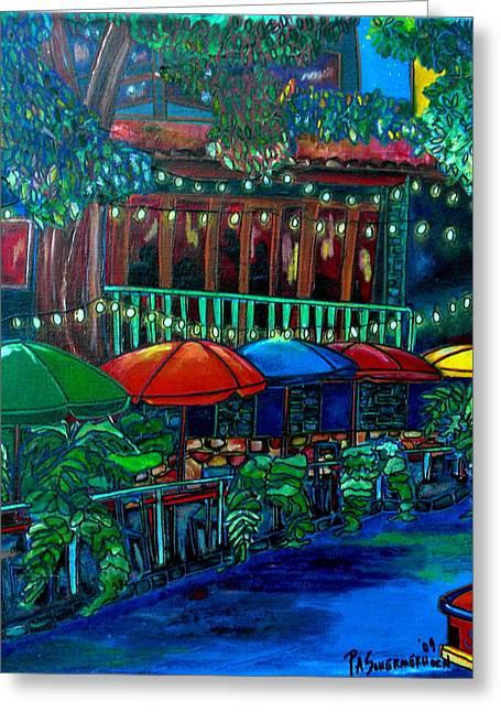 Riverwalk Greeting Cards - Casa Rio Greeting Card by Patti Schermerhorn