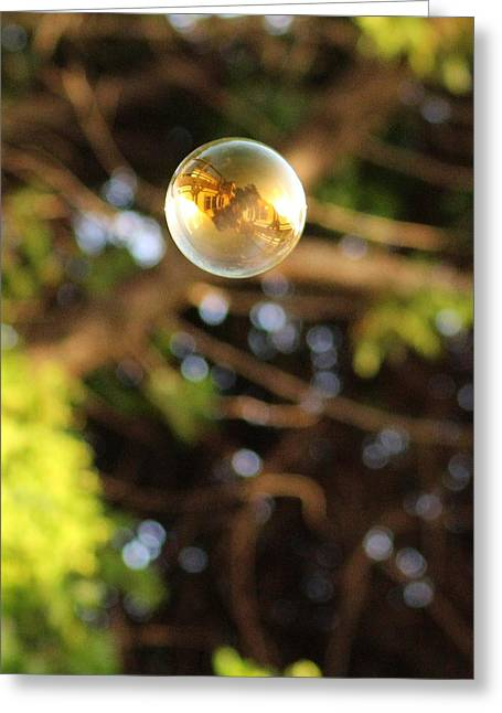 Marie Neder Greeting Cards - Casa Rubio in the golden bubble Greeting Card by Marie Neder