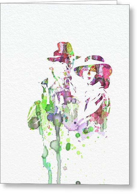Film Watercolor Greeting Cards - Casablanca Greeting Card by Naxart Studio