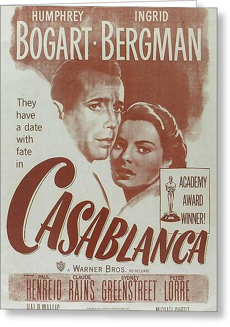 Casablanca Greeting Cards - Casablanca Greeting Card by Nomad Art And  Design
