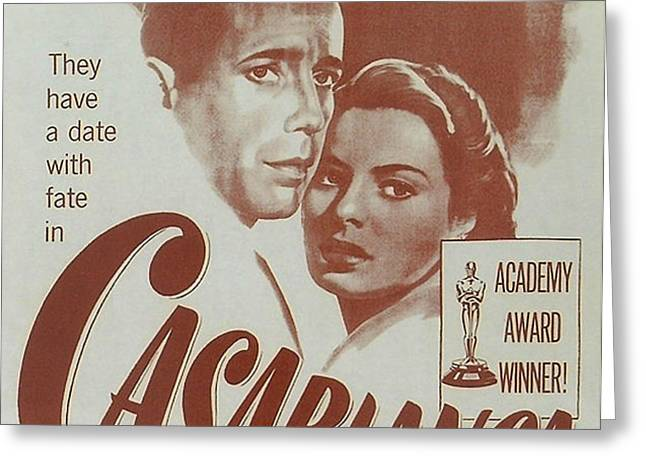 Casablanca Greeting Card by Nomad Art And  Design
