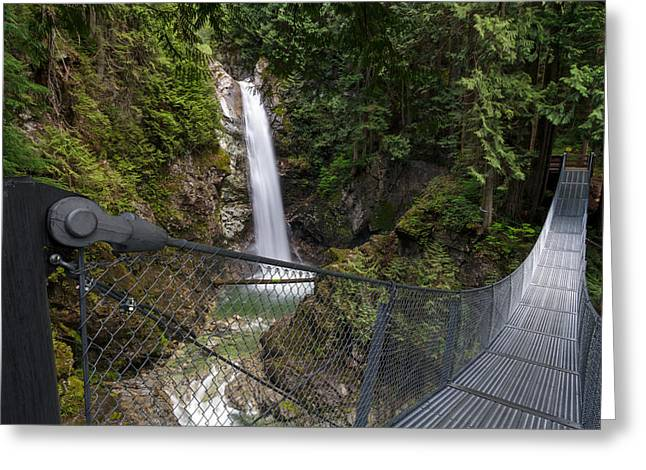 Red Rock Crossing Greeting Cards - Cascade Falls Regional Park Greeting Card by Michael Russell