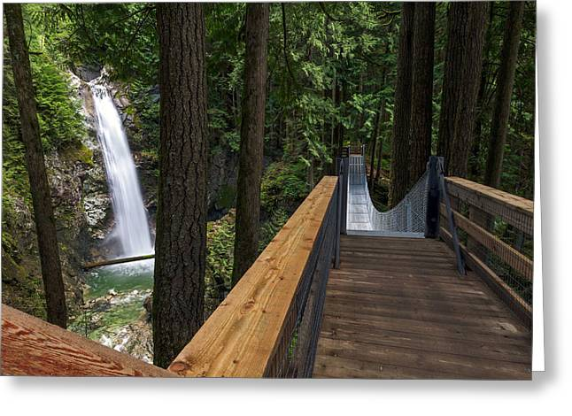 Red Rock Crossing Greeting Cards - Cascade Falls View Greeting Card by Michael Russell