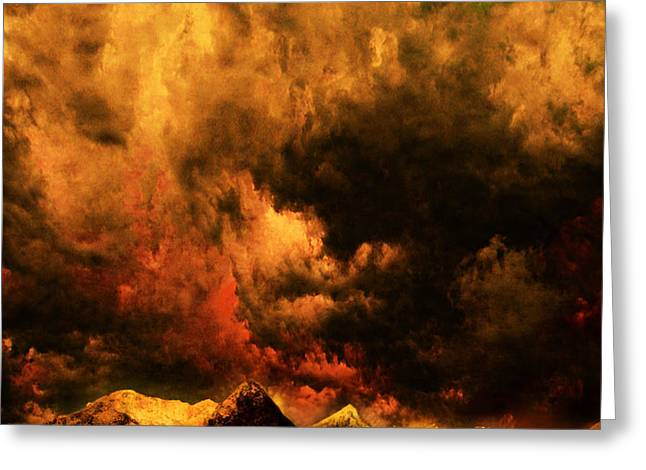 Cascade Storm Greeting Card by Jeff Burgess