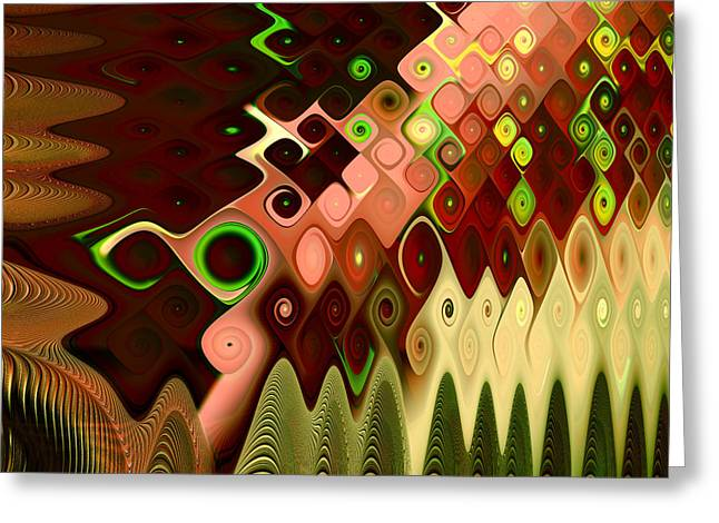 Abstract Digital Greeting Cards - Cascade Greeting Card by Vicky Brago-Mitchell