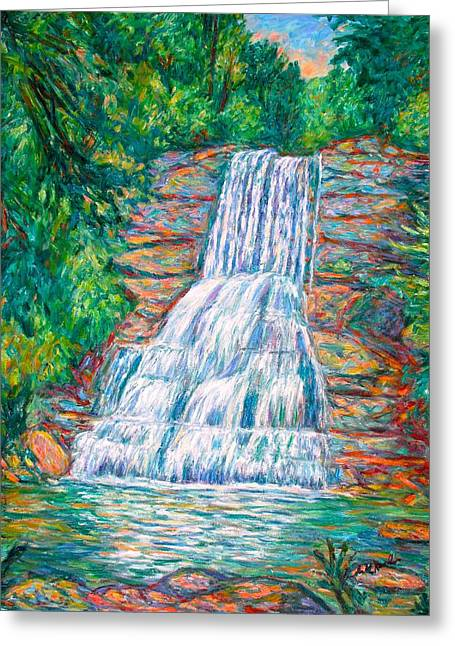 Cascades In Giles County Greeting Card by Kendall Kessler