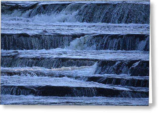 White Digital Art Greeting Cards - Cascades Greeting Card by Richard Andrews