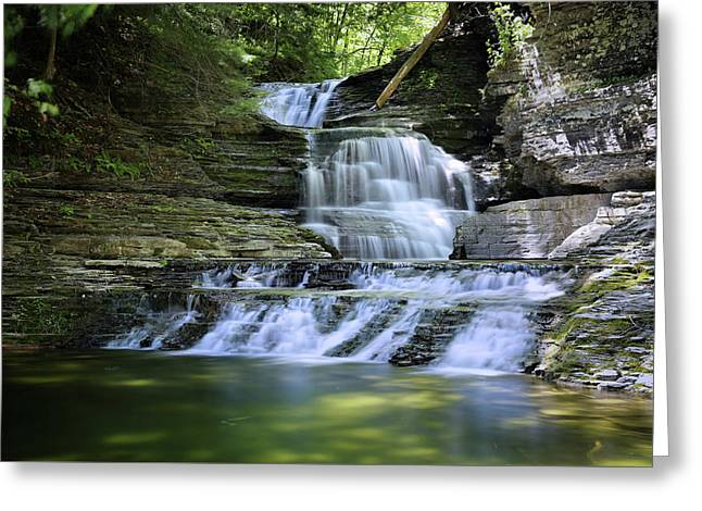 Cascading Descent Greeting Card by Gary Yost