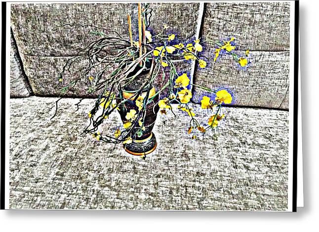 Cascading Flowers Greeting Card by Jagjeet Kaur