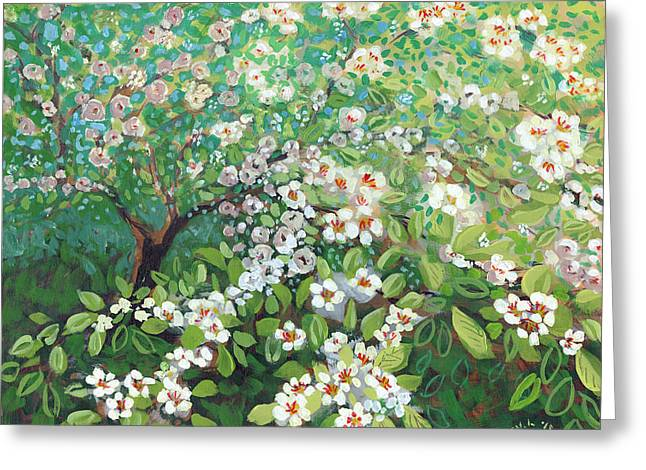 Plumeria Greeting Cards - Cascading Greeting Card by Jennifer Lommers