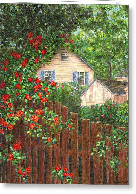 Roses Greeting Cards - Cascading Roses Greeting Card by Susan Savad
