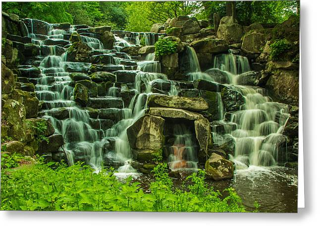 Virginia Landscape Greeting Cards - Cascading Serenade Greeting Card by Roman Grac