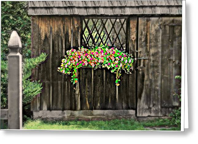Cascading Shed Greeting Card by Diana Angstadt