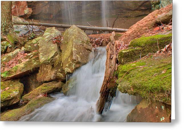 Cascading Waterfall Greeting Card by Douglas Barnett