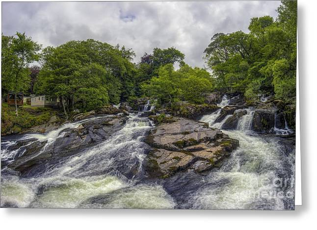 Power Plants Greeting Cards - Cascading Waters Greeting Card by Ian Mitchell