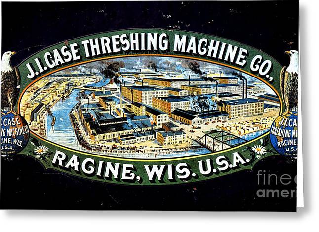 Display Case Greeting Cards - Case Threshing Machine Co Greeting Card by Olivier Le Queinec
