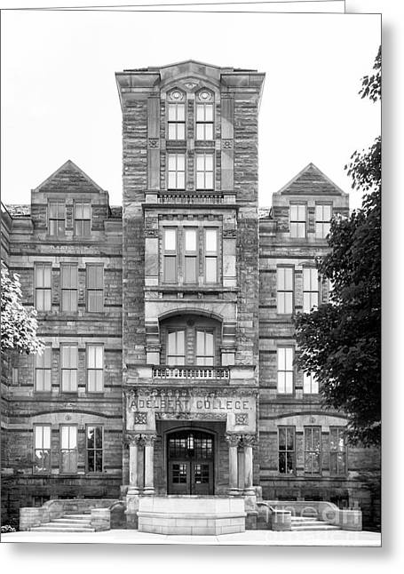 Case Western Reserve University Adelbert Hall Greeting Card by University Icons