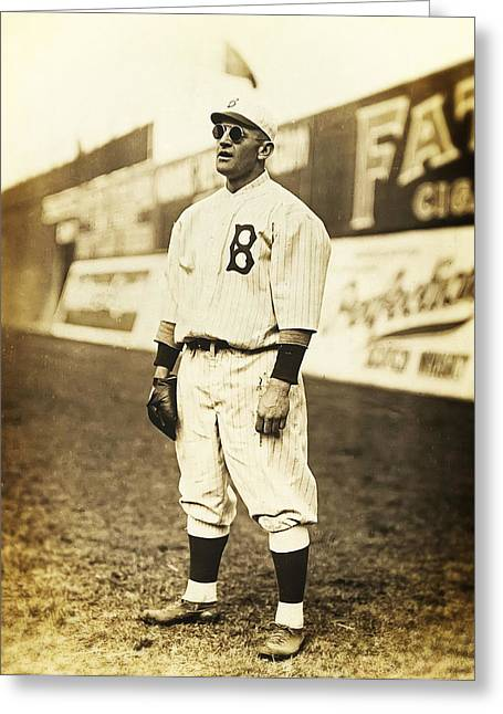 Baseball Glove Greeting Cards - Casey Stengel Greeting Card by The  Vault - Jennifer Rondinelli Reilly