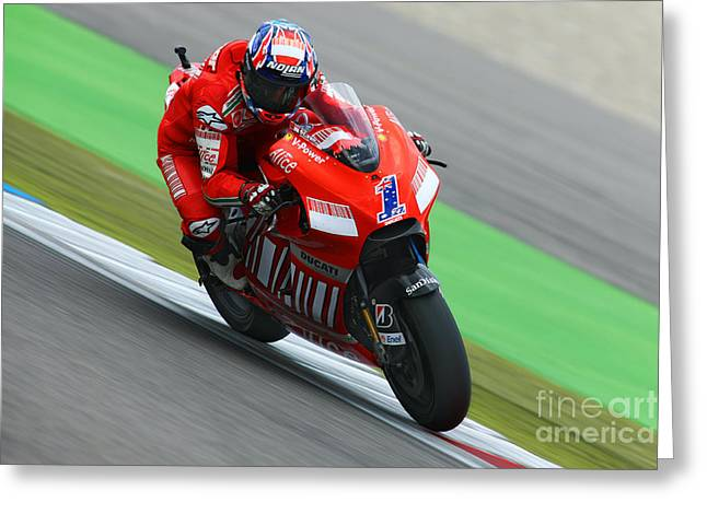 Sports Framed Photo Greeting Cards - Casey Stoner Greeting Card by Henk Meijer Photography
