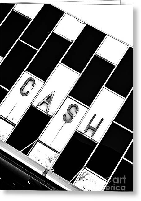 Store Fronts Greeting Cards - Cash is the Name Greeting Card by JW Hanley