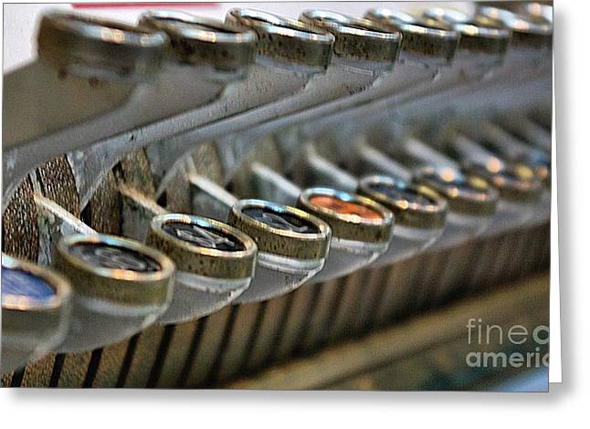 Old Cash Register Keys Greeting Cards - Cash Only Please....LOL Greeting Card by John S