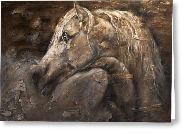 Pony Pastels Greeting Cards - Cashmere Greeting Card by Paula Collewijn -  The Art of Horses