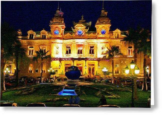 Monaco Greeting Cards - Casino Monte Carlo Greeting Card by Jeff Kolker