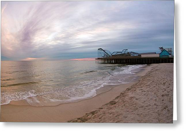 Casino Pier Greeting Cards - Casino Pier Sunrise Greeting Card by Robert Siliato
